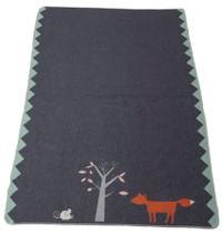 David Fussenegger Juwel Cot Blanket - Fox and Mouse