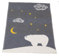 Copy of David Fussenegger Finn Bassinet Blanket - Charcoal Arctic Night Sky