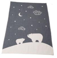 David Fussenegger Finn Cot Blanket - Charcoal Polar Night Sky