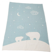 David Fussenegger Finn Cot Blanket - Blue Polar Night Sky