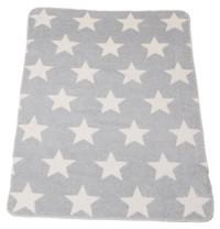 David Fussenegger Panda (Bamboo) Bassinet Blanket - Grey Stars