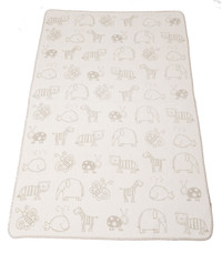 David Fussenegger Panda (Bamboo) Cot Blanket - Friendly Animal Prints