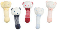 emotion and kids little bear baby stick rattles