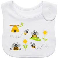 emotion and kids bumble bee cotton baby bib