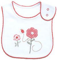 emotion and kids little garden cotton baby bib