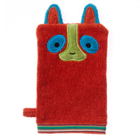 Breganwood Organics Wash Mitt - Rainforest Collection - Happy Lemur