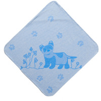 Breganwood Organics Kids Hooded Towel - Prairie Collection Ferrets - Blue Ferret