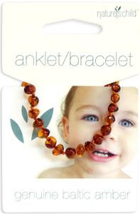 Nature's Child Amber Bracelet - Anklet - Cognac