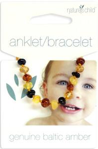 Nature's Child Amber Bracelet - Anklet - Mixed Colours