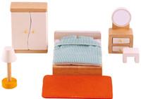 Hape All Seasons Doll Furniture - Master Bedroom set