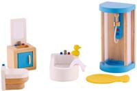 Hape All Seasons Doll Furniture - Modern Bathroom set