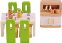 Hape All Seasons Doll Furniture - Dining Room Set