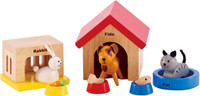 Hape All Seasons Doll Furniture - Family Pet Set
