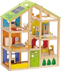 Hape All Seasons Wooden Dollhouse Set