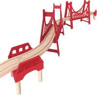 Kids Hape Extended Double Suspension Bridge Wooden Toys