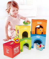 Kid's Hape Friendship Stacking Cubes