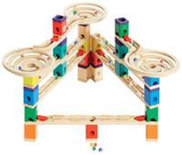 Quadrilla Vertigo Set - Wooden Marble Track Tower