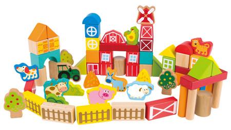 Hape On the Farm Building Block Set - 65 Pcs