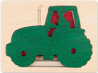 George Luck Five Tractors Layered Puzzle