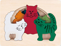 George Luck Cats Layered Puzzle set