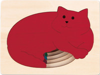 George Luck Five Cats Layered Puzzle