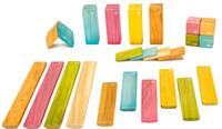 Tegu Magnetic Wooden Block - 24 Piece Tints Set
