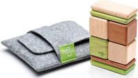 Tegu Pocket Pouch Magnetic Travel Blocks - Jungle