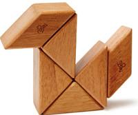 Tegu Pocket Pouch Prism - Magnetic Travel Blocks  - Mahogany