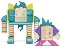 Tegu Sticky Monsters Magentic Block Set - Beans and Tumtum