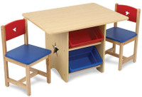 Kidkraft Star Table & 2 Chair Set - Primary