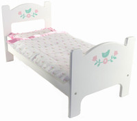 mamagenius wooden doll bed