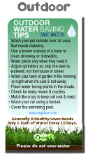 Colorful outdoor water conservation tip magnet for How to save water in your house