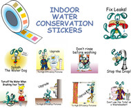 Roll of Splash the Water Dog Indoor Water Conservation Stickers for Kids Education Series A