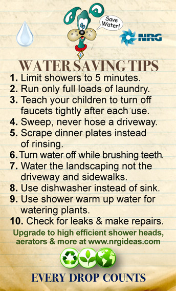 Colorful Water Conservation Tip Magnet