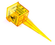 "Custom Printed 1.5"" Rain and Sprinkler Gauge Wide Mouth Bright Yellow Outdoor Measuring Tool"