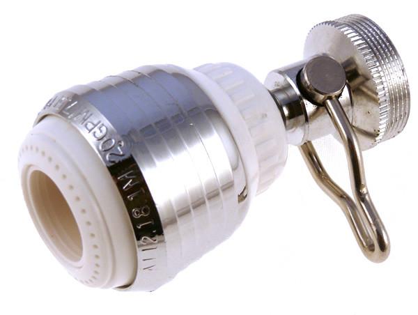 No Lead Brass On Off Swivel Spray 2 0 gpm Dual Setting Kitchen