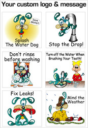 Splash the Water Dog Conservation Stickers | Series 1 | Fun Educational product for all ages!