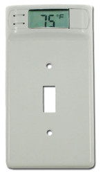 Digital Wall plate Temperature Thermometer (White) | Monitor Room Temperature