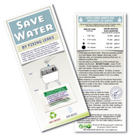 Leak detecting Dye Tablets  | Generic Toilet Tablets on a card with instructions