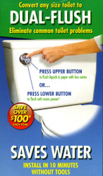 Dual-Flush Toilet Saver HydroRight Premium toilet flush system | Save with each flush