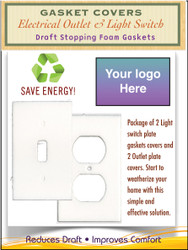Custom Gasket Cover Logo Kit, Electrical Outlet & Light Switch Plate Draft Stopper Foam Gaskets
