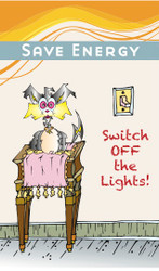 Switch the Cat Energy Conservation Sticker | Turn off Lights | Fun Educational product
