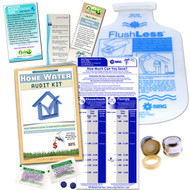 Home Water Audit Bathroom Kit | Flow Gauge Bag|Aerator|FlushLess Bag | Dye Tablets