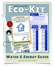 Whole House Water Audit & Bathroom Kit | Flow Restrictors, Toilet Dye Tablets Low Flush Displacement Bag
