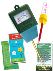 Indoor/Outdoor Moisture Sensor Kit Rain Gauge Lawn Watering Kit with Lawn Watering Guide