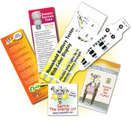 Household Energy Kit |  Battery Tester Flexible Strip - Bookmark  and Tattoo | Test before you replace!