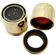 Brass 2.2 gpm Dual Threaded / Aerated Stream Neoperl Faucet Aerator | Full Flow