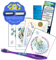 Bathroom Fun Kit Children's Brush Buddy Timer | Toothbrush Bathroom Vinyl Cling Stickers & Bookmark