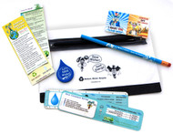 Water conservation and recycling themed school supplies kit