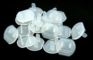 Clear plastic safety caps, draft stoppers and safety device.